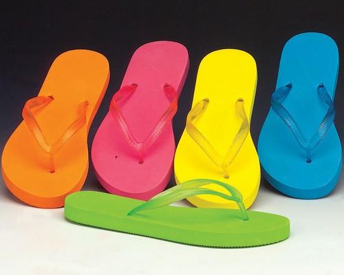 Neon Flip Flops at seagullintl|48 pairs